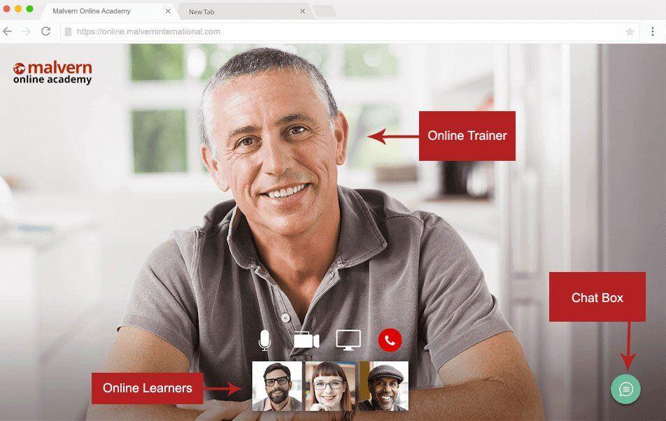 Malvern Online Academy User Interface
