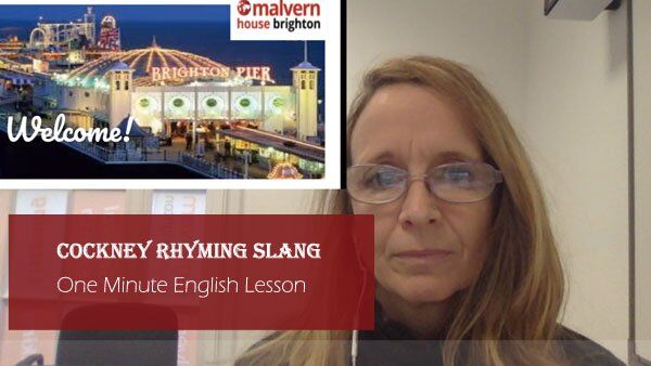 One Minute English Lesson - Cockney Rhyming Slang